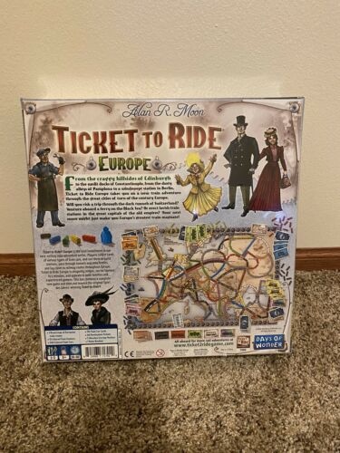 Details about  /Sealed BRAND NEW Days of Wonder Ticket to Ride Europe Board Game RARE Complete