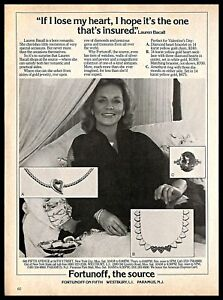 1981 Fortunoff Jewelry Vintage Print Ad Lauren Bacall Hollywood Movie Actress Ebay