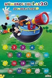 MICKY-MAUS-amp-GOOFY-MICKEY-MOUSE-POSTER-NUMBEROS-DEL-1-AL-20