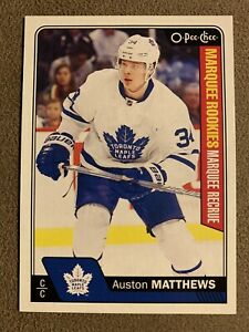 2016-17-O-Pee-Chee-AUSTON-MATTHEWS-Rookie-RC-694-Toronto-Maple-Leafs