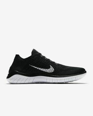Nike Free RN Flyknit 2018 Men's Running Shoe BlackWhite