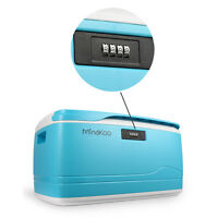 Mindkoo 32l Plastic Locking Storage Box W/ Lid Coded Home Car Container Diy Us