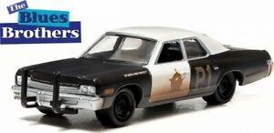 Greenlight-44710-C-Dodge-Monaco-1975-Coche-Modelo-de-Policia-el-Blues-Brothers-1-64th