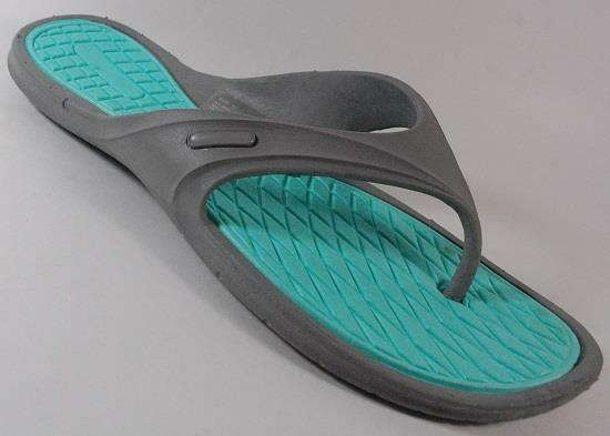 NEW Womens Sandals UNBRANDED GRAY/AQUA  Flip Flops Thongs Sandals Womens Shoe SZ 10 d69283