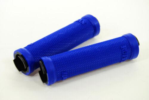 ODI Ruffian MTB Bicycle Lock On Grips Bonus Pack w// Jaw Clamps Blue