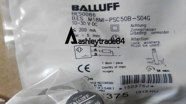 1PC NEW BALLUFF BES Proximity switch M18MI-PSC50B-S04G 10-30VDC