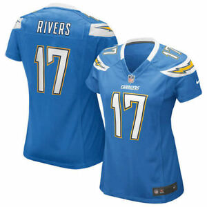 quality design 24568 03bb0 Details about Philip Rivers #17 Powder Blue Womens XL NFL L.A Chargers  Jersey Make any offer!