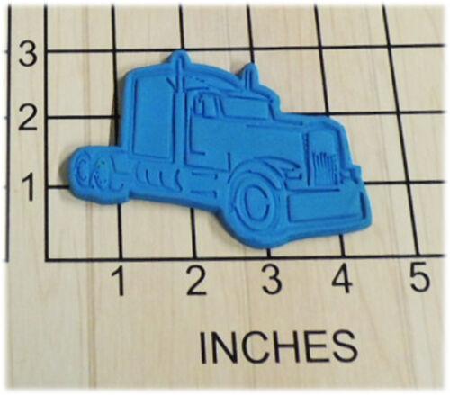 Semi Truck Fondant Cookie Cutter and Stamp #1389