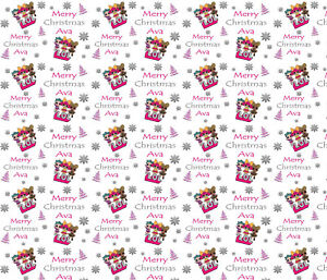 Personalised Christmas Gift Wrap Lol Dolls Wrapping Paper Ebay