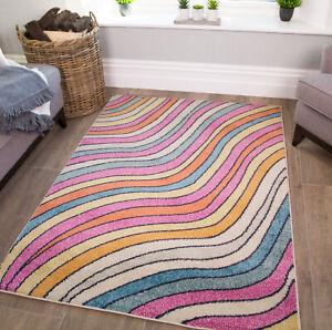 Funky Striped Rug Kids Bedroom Mats