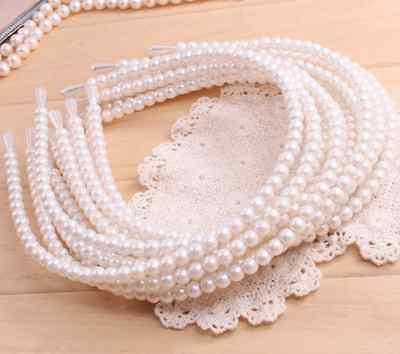 FD715 Sweet Pretty Princess Queen Imitation Pearl Hairpin Hair Band Headband 1pc