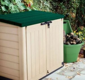 Keter store it out max xl green lid plastic garden shed - Green plastic garden sheds ...
