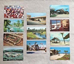 Lot 11 Vtg Florida Postcards Miamisiesta Keysarasotatampa