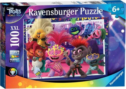 Ravensburger trolls 2 World Tour XXL 100PC Jigsaw Puzzle jouets jeux BN