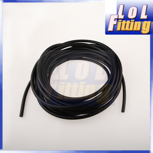 """8mm 5//16/"""" Silicone Vacuum Hose Pipe /""""Sold By Foot/"""" High Performance Black"""