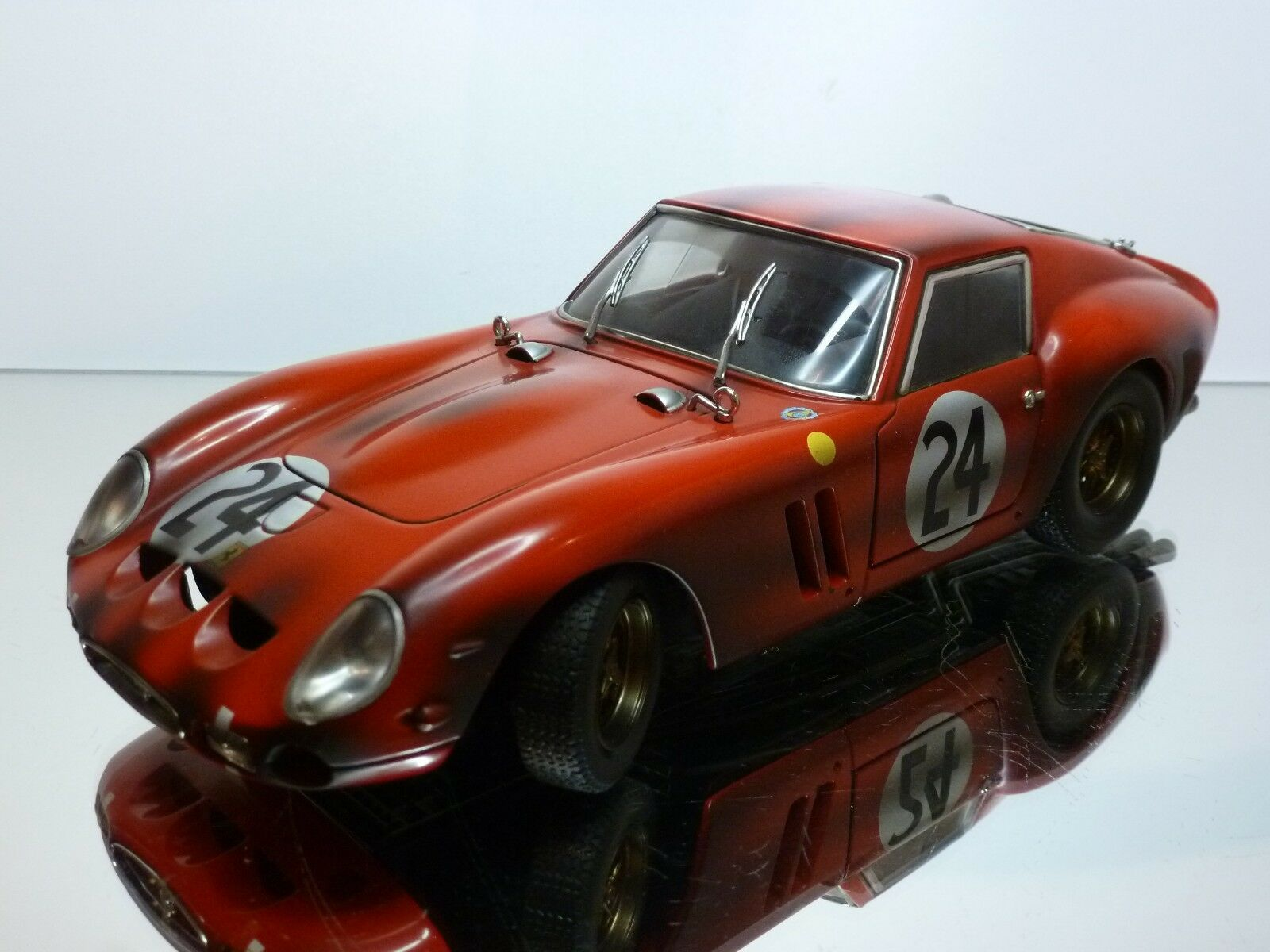 HOT WHEELS FERRARI 250 GTO - RALLY  24 - rouge 1 18 - VERY GOOD CONDITION
