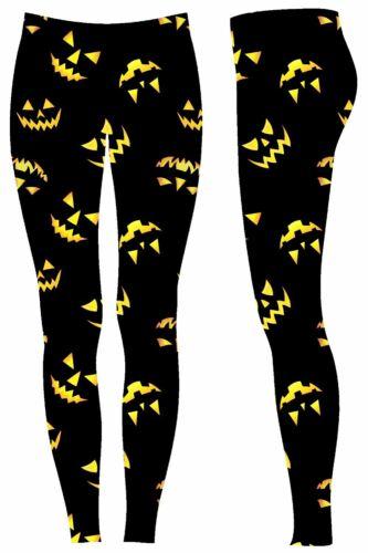 Womens Ladies Halloween Ghost Galaxy Web Skinny Fit Costume Jeggings Leggings