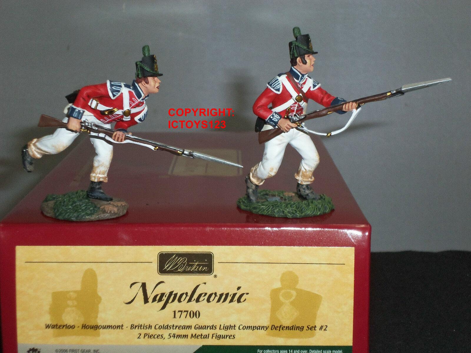 BRITAINS 17700 BRITISH COLDSTREAM GUARDS LIGHT COMPANY DEFENDING FIGURE SET 2