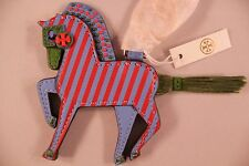 NWT HTF Authentic TORY BURCH Harry the Horse Key Fob Bag Charm Freshwater Multi