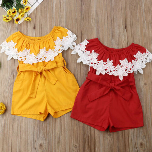 Fashion Newborn Baby Girl Lace Romper Jumpsuit Bodysuit Outfits Summer Clothes