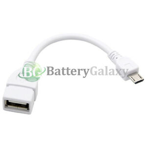100 USB Micro B to A Adapter OTG Cable Cord for Samsung Galaxy Note 1 2 3 4 5