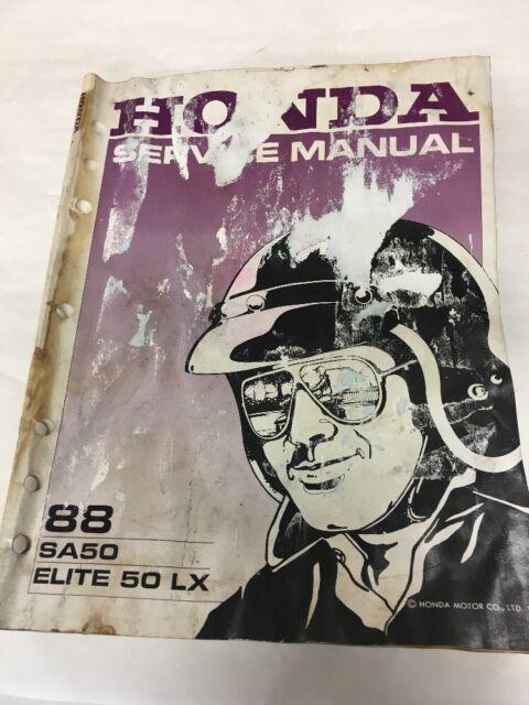Honda 88 Sa50 Elite 50 Lx Service Manual