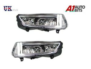 NEW-FRONT-BUMPER-FOG-LIGHTS-LAMPS-SET-L-amp-R-FOR-VW-POLO-MK8-6R-2009-2014