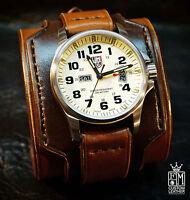 Luminox Leather Cuff Watch Nathan Drake Freddie Matara Custom Benchmade In Nyc