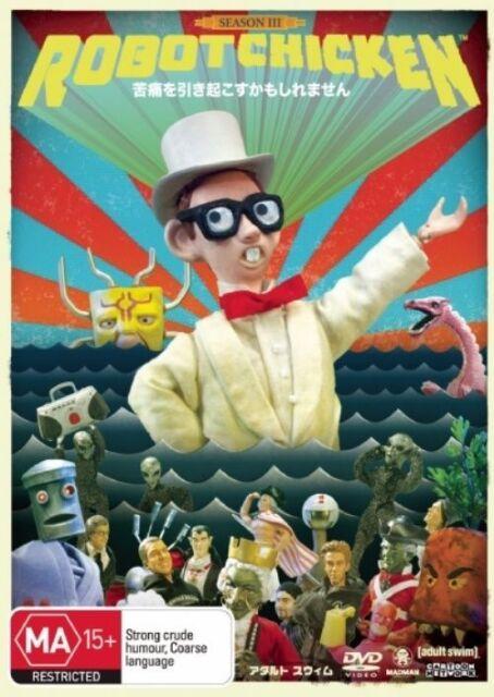 Robot Chicken Season 3 DVD (2-Disc Set) OVER 3.5 HOURS