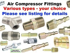 Image is loading Air-Compressor-parts-wide-choice-of-airtool-hose-  sc 1 st  eBay & Air Compressor parts wide choice of airtool hose fittings - SELECT ...