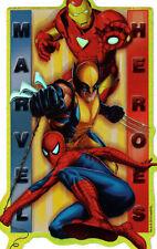 MARVEL COMICS SUPER HERO HEROES SQUAD PRISM STICKER~SPIDERMAN WOLVERINE IRON MAN
