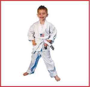 Karate Gi 6oz White Student Karate Uniform With White Belt