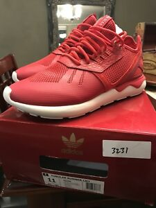 Details about Used Worn Size 12 Adidas Tubular X CNY Chinese New Year Shoes Red White AQ2548