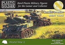 WW2V15021 - 15MM ALLIED M5A1 STUART TANK - PLASTIC SOLDIER COMPANY - WW2
