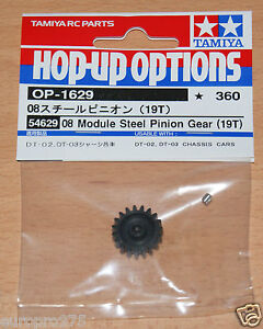 Tamiya-54629-08-Module-Steel-Pinion-Gear-19T-Fighter-Buggy-Mad-Bull-DT02-DT03