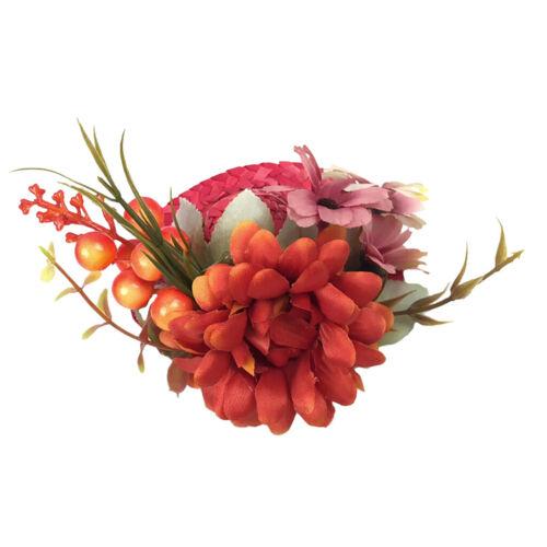 Hair Clip Fascinators Flower Hat on a Headband Tea Party Headwear for Lady Women