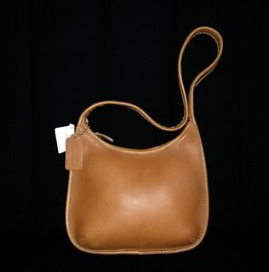 64ce0e90ea NWT Coach SM Vintage Retro TOFFEE BROWN Mini Zip Hobo Shoulder Bag ...