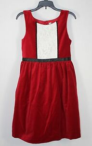 5bb8910e47be NEW Girls Cherokee Red Velvet White Black Lace Trim Christmas Dress ...