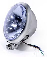 """5¾"""" Chrom Scheinwerfer Headlight für Harley-Davidson und Chopper Glas Blau Blue"""