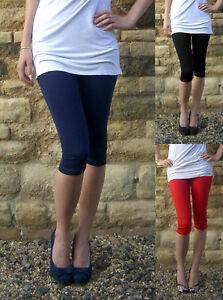 Extra Long Tall Knee Length Womens Black Leggings Viscose Size 6 10 12 14 16 18 Ebay