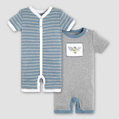 NWT BABY BOY BURTS BEES BABY ORGANIC COTTON PAJAMA SET SIZE 0-3 MONTHS
