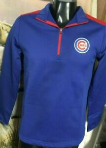 Brand-New-CHICAGO-CUBS-1-4-Zip-Pullover-Fleece-Jacket-MLB-Mens-Medium