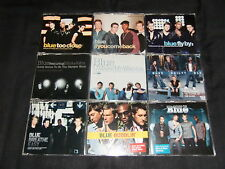 JOB LOT: Blue x9 CD singles pack inc. Too Close, Fly By, Bubblin, Curtain Falls