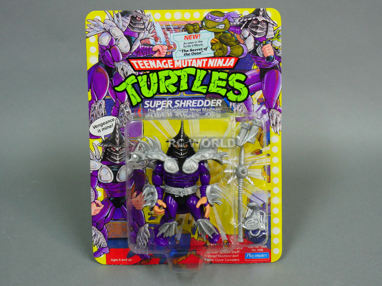 Playmates TMNT Teenage Mutant  Ninja Turtles  SUPER SHrossoDER  -UNPUNCHED-  G3  perfezionare