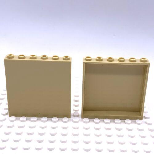 Lego Part 4512688 Wall Panel 1x6x5 Tan 59349 X 2 Parts