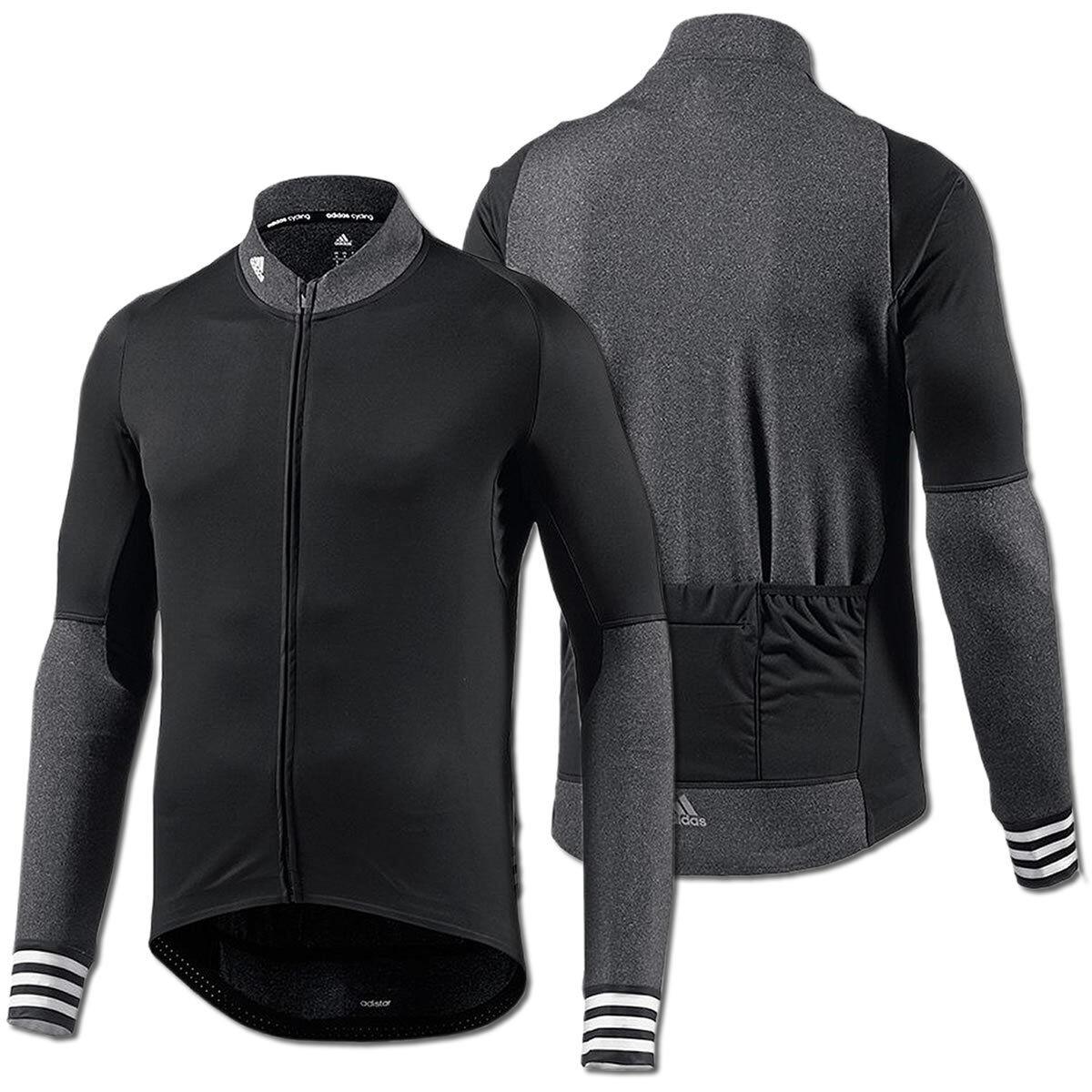 Adidas Herren adistar Belgements Radtrikot Cycling Jersey Bike Trikot schwarz