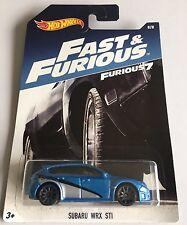 Hotwheels Subaru Wrx Sti Rápido y Furioso 7 2017 nos Brian's Paul Walkers coche