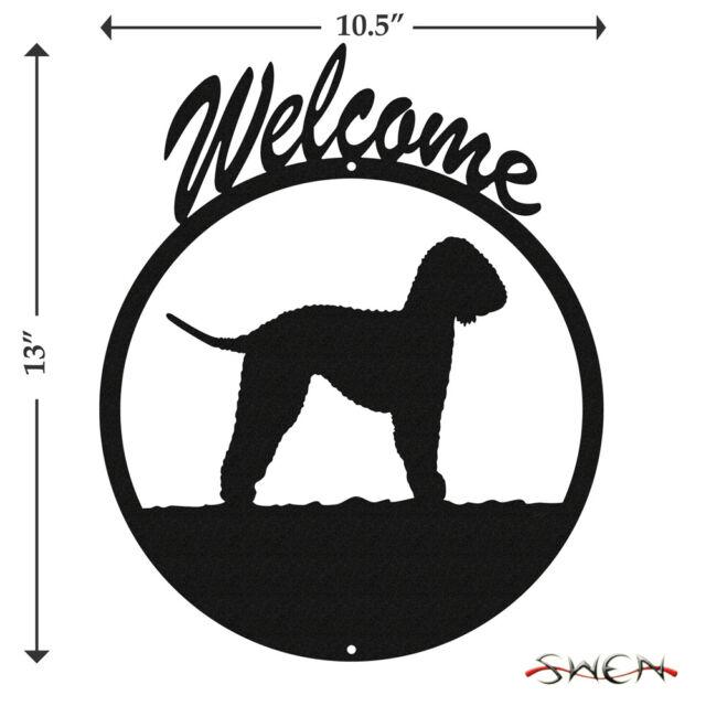 Bedlington Terrier Black Metal Welcome Sign *NEW*