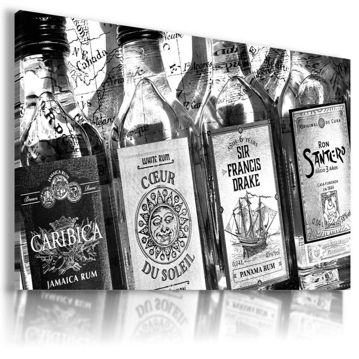RUM DRINK ALCOHOL  View Canvas Wall Art Picture Large GrößeS  DR25  X MATAGA