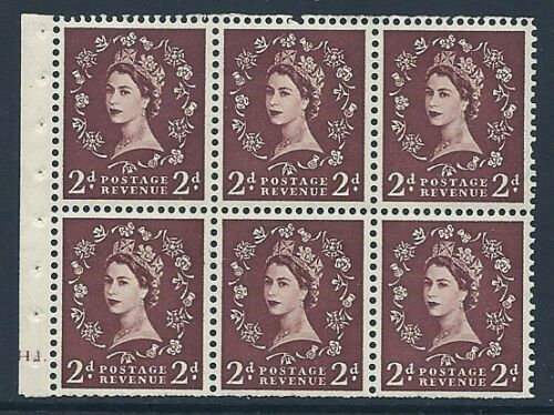 SB76 Wilding booklet pane Tudor Cyl H1 Dot perf type Ie UNMOUNTED MNTMNH